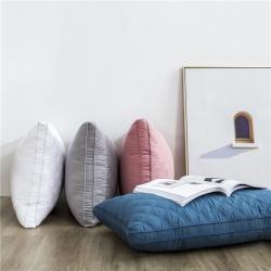 夏冬 全棉绗缝枕芯 立体羽丝绒枕 三线格枕芯