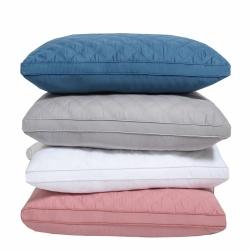 夏冬 全棉絎縫枕芯 立體羽絲絨枕 三線格枕芯