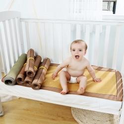 总)双面藤席婴儿凉席幼儿园宝宝儿童夏婴童冰丝席子婴儿床可定制