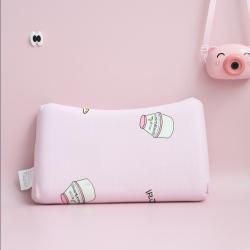 全棉针织0-2岁婴儿防偏头定型乳胶枕头3-10岁儿童乳胶枕