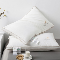 2020新款乐活大豆安睡枕大豆纤维护颈椎枕柔软安眠枕头枕芯