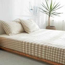 (总)北欧良品 水洗棉床单单品 水洗棉单品床笠多规格无印良品