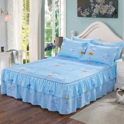 【总】芦荟棉双边床裙 床罩