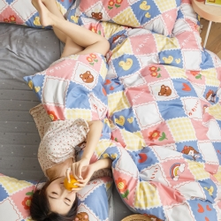 【爆款】全棉12868简约四件套斜纹纯棉三件套学生床单/床笠