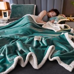 (总)紫苏 2020新款AB版多功能双层毛毯法兰绒贝贝绒