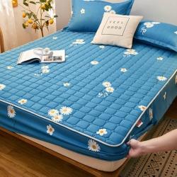 (总)2021新款夹棉床笠加厚透气床罩套宿舍床垫套防尘罩全包