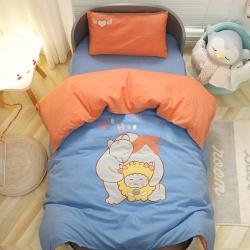 戈萌兔水洗棉A类幼儿园三件套全棉无荧光被褥被套芯子儿童午睡