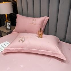 (总)品乐 2021新款100支长绒棉提花刺绣单枕套(宽边)