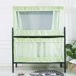 娜年时光 2021新拉链款宿舍加厚强遮光床帘蚊帐一体式星愿绿
