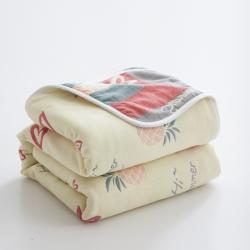 (总)爱港 2021新款全棉纱布六层毛巾被