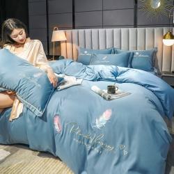 总)苏米娜2021新款天丝莫代尔丝绸刺绣花四件套水洗真丝套件