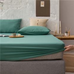 (总)兰紫橙家纺 2021新款40s长绒棉纯色单品床笠