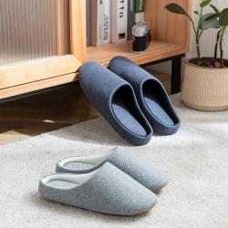 日式无印拖鞋秋冬保暖棉拖鞋良品情侣家居拖鞋 斜纹布外贸