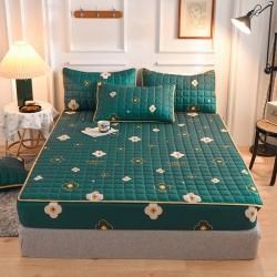 (总)八十八家纺2021新款磨毛夹棉床笠床罩床单床裙纯色印花