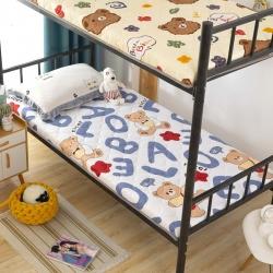 (总)暖季2021新款磨毛加厚防滑学生宿舍床垫绗绣印花床垫子