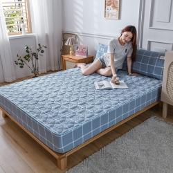 恋人优选良品纯棉色织夹棉床笠单件防滑全棉床罩席梦思床垫保护套