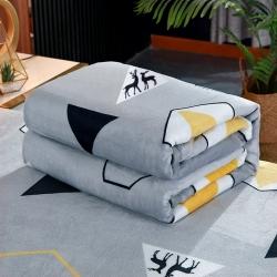 总-赋雅-加厚云貂绒毛毯 双面绒休闲毯法莱绒毛毯枕套床单盖毯