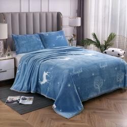 加厚云貂绒毛毯双面绒法莱绒 珊瑚绒毛毯子 枕套童毯 床单盖毯