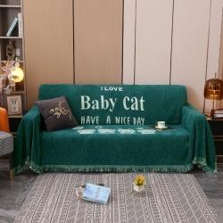 【总】-名典风情新款全盖雪尼尔沙发巾沙发套宝贝猫系列