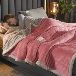 秋冬爆款·加厚三层夹棉牛奶绒毯贝贝绒毯冬季保暖午睡法莱绒毛毯