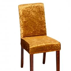 2021跨境纯色金钻绒连体椅子套居家四季通用金色