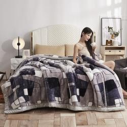 【2021年新款】拉舍尔毛毯双层加厚水晶牛奶魔法法莱绒冬季被