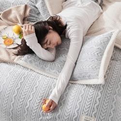 【2021新款】毛毯冬被加厚冬季双层被套法莱绒牛奶绒水晶纯色