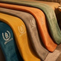 (总)寐绸家纺 2021新款牛奶绒法莱绒三层夹棉功能毛毯