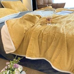 (总)吾诺 2021 毛衣雕花毯子 牛奶绒毛毯法莱绒毯子