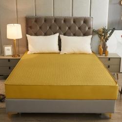 (总)泽西全棉13376夹棉床笠单品抗菌床垫保护套纯棉防尘罩