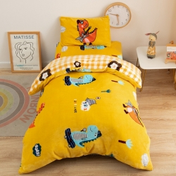 牛奶绒幼儿园套件三件套单件被套宝宝绒垫套枕套支持定制任意尺寸