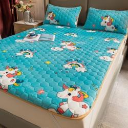 冬季法兰绒床垫保暖榻榻米床褥租房专用床褥加厚法莱绒夹棉床护垫