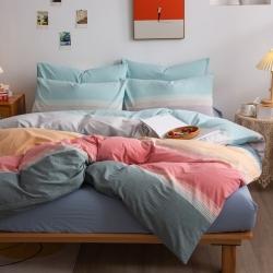 (总)千姿梦全棉色织水洗棉四件套被套床单床笠枕套三件套