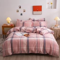 (总)千姿梦 水洗全棉三件套床单被套床笠无印良品系列四件套