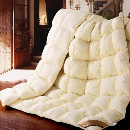 雅尚羽绒被 羽毛绒-面包被鹅绒被白鸭绒被冬被加厚春秋被