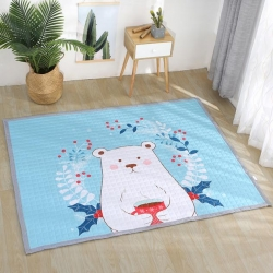 原良居家纺 北欧风长方形加厚地垫儿童爬爬垫北极熊