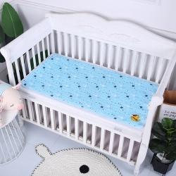 原良居 2019新品全棉婴儿隔尿垫 蓝色星星