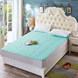 清单家纺 3D透气床垫  水绿