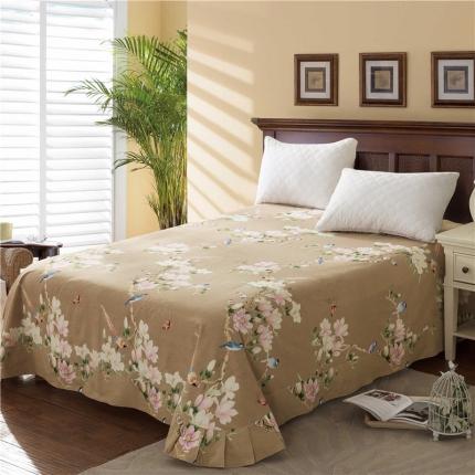 艾羽家纺 全棉高级磨毛澳棉系列单品床单 鸟语花香
