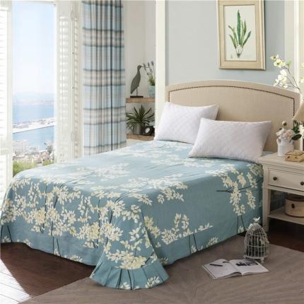 艾羽家纺 全棉高级磨毛澳棉系列单品床单 烟雨楼兰