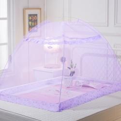 艾晶美 嬰兒蚊帳紫色
