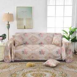共鸣沙发垫 2019新款提花沙发巾 米兰之都粉