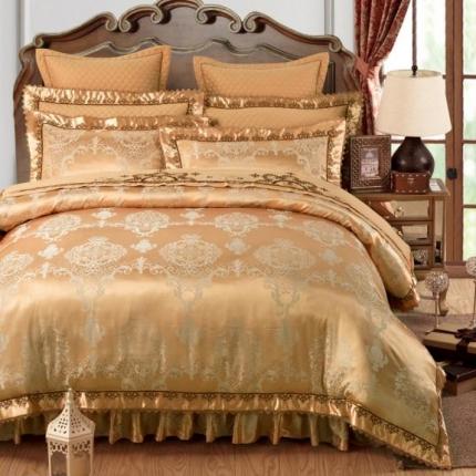 好眠好梦家纺 欧式刺绣花夹棉床笠式床罩床裙四件套 至尊时尚