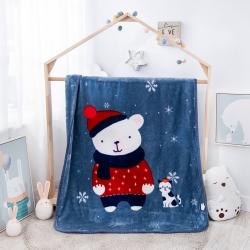 凯轩毛毯 2019新款精品儿童云毯 幸福宝贝(蓝灰)