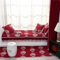 (總)美優蘭 2020新款富貴花開-紅色飄窗墊