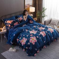 总1-天之澜-爆款金貂绒包边法莱绒水晶绒保暖床裙款四件套
