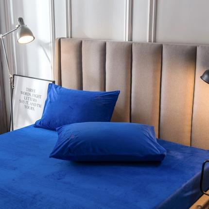 品乐家纺 新款梦幻绒单品枕套48*74一对 梦-蓝