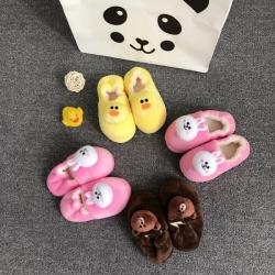 (总)源本家居 韩国line系列儿童拖鞋保暖棉鞋