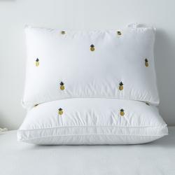 逸林枕芯 全棉立体网红菠萝羽丝绒枕芯