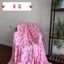 一戶屋 2019水洗棉夏被新款花形促銷 草莓
